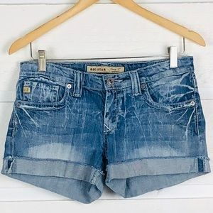 BIG STAR Casey K Low Rise Fit Distressed Shorts